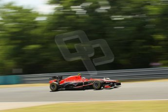 World © Octane Photographic Ltd. F1 Hungarian GP - Hungaroring. Friday 26th July 2013. F1 Practice 2. Marussia F1 Team MR02 - Max Chilton. Digital Ref : 0760lw1d0613