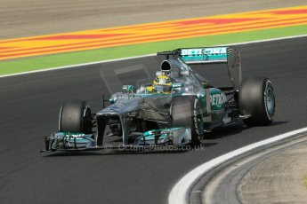 World © Octane Photographic Ltd. F1 Hungarian GP - Hungaroring. Thursday. 25th July 2013. F1 Practice 2. Mercedes AMG Petronas F1 W04 - Nico Rosberg. Digital Ref : 0760lw1d2017
