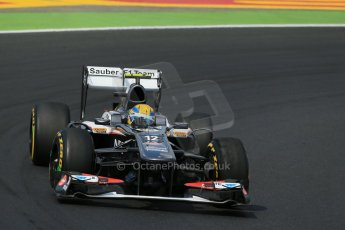 World © Octane Photographic Ltd. F1 Hungarian GP - Hungaroring. Friday 26th July 2013. F1 Practice 2. Sauber C32 - Esteban Gutierrez. Digital Ref : 0760lw1d2085