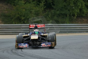 World © Octane Photographic Ltd. F1 Hungarian GP - Hungaroring. Saturday 27th July 2013. F1 Qualifying. Scuderia Toro Rosso STR8 - Jean-Eric Vergne. Digital Ref : 0764lw1d4061