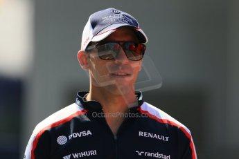 World © Octane Photographic Ltd. F1 Hungarian GP - Hungaroring, Saturday 27th July 2013 - Paddock. Williams - Pastor Maldonado. Digital Ref : 0762lw1d2929