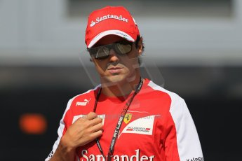 World © Octane Photographic Ltd. F1 Hungarian GP - Hungaroring, Saturday 27th July 2013 - Paddock. Scuderia Ferrari - Felipe Massa. Digital Ref : 0762lw1d3052