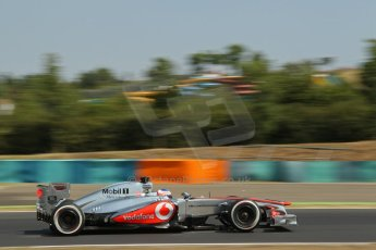 World © Octane Photographic Ltd. F1 Hungarian GP - Hungaroring, Saturday 27th July 2013 - Practice 3. Vodafone McLaren Mercedes MP4/28 - Jenson Button. Digital Ref : 0763lw1d0831