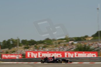 World © Octane Photographic Ltd. F1 Hungarian GP - Hungaroring, Saturday 27th July 2013 - Practice 3. Scuderia Toro Rosso STR 8 - Daniel Ricciardo. Digital Ref : 0763lw1d1030