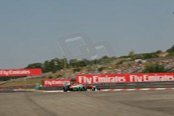 World © Octane Photographic Ltd. F1 Hungarian GP - Hungaroring, Saturday 27th July 2013 - Practice 3. Sahara Force India VJM06 - Paul di Resta. Digital Ref : 0763lw1d1044
