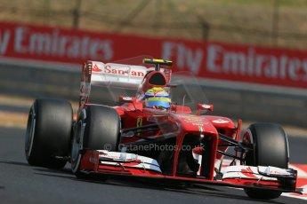 World © Octane Photographic Ltd. F1 Hungarian GP - Hungaroring, Saturday 27th July 2013 - Practice 3. Scuderia Ferrari F138 - Felipe Massa. Digital Ref : 0763lw1d3130