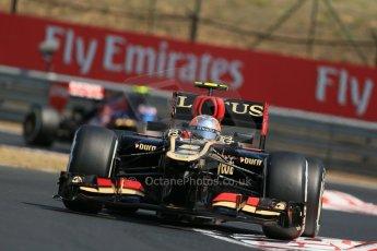 World © Octane Photographic Ltd. F1 Hungarian GP - Hungaroring, Saturday 27th July 2013 - Practice 3. Lotus F1 Team E21 - Romain Grosjean. Digital Ref :