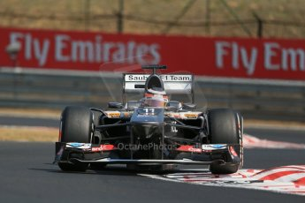 World © Octane Photographic Ltd. F1 Hungarian GP - Hungaroring, Saturday 27th July 2013 - Practice 3. Sauber C32 - Nico Hulkenberg. Digital Ref : 0763lw1d3368