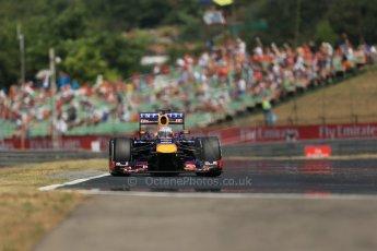 World © Octane Photographic Ltd. F1 Hungarian GP - Hungaroring, Saturday 27th July 2013 - Practice 3. Infiniti Red Bull Racing RB9 - Sebastian Vettel. Digital Ref : 0763lw1d3384