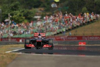 World © Octane Photographic Ltd. F1 Hungarian GP - Hungaroring, Saturday 27th July 2013 - Practice 3. Vodafone McLaren Mercedes MP4/28 - Jenson Button. Digital Ref : 0763lw1d3446
