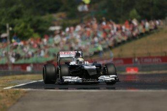 World © Octane Photographic Ltd. F1 Hungarian GP - Hungaroring, Saturday 27th July 2013 - Practice 3. Williams FW35 - Pastor Maldonado. Digital Ref : 0763lw1d3545
