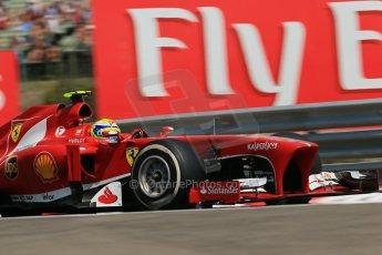 World © Octane Photographic Ltd. F1 Hungarian GP - Hungaroring, Saturday 27th July 2013 - Practice 3. Scuderia Ferrari F138 - Felipe Massa. Digital Ref : 0763lw1d3641