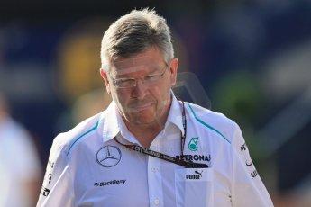 World © Octane Photographic Ltd. F1 Hungarian GP - Hungaroring. Friday 26th July 2013. F1 Paddock - Ross Brawn - Mercedes AMG Petronas F1 . Digital Ref : 0757lw1d0670