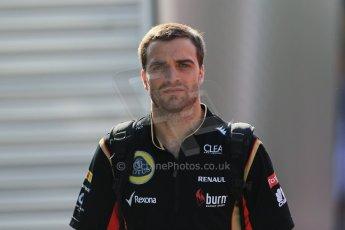 World © Octane Photographic Ltd. F1 Hungarian GP - Hungaroring. Thursday. 25th July 2013. F1 Paddock. Lotus F1 Team E21 - Jerome d'Ambrosio. Digital Ref : 0757lw1d0718