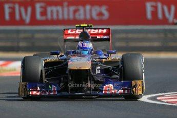 World © Octane Photographic Ltd. F1 Hungarian GP - Hungaroring. Friday 26th July 2013. F1 Practice 1. Scuderia Toro Rosso STR 8 - Daniel Ricciardo. Digital Ref : 0758lw1d0760