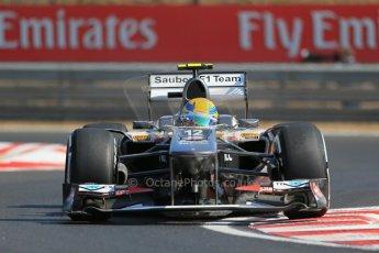 World © Octane Photographic Ltd. F1 Hungarian GP - Hungaroring. Friday 26th July 2013. F1 Practice 1. Sauber C32 - Esteban Gutierrez. Digital Ref : 0758lw1d0776
