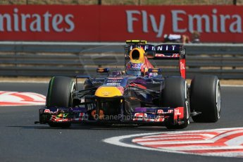 World © Octane Photographic Ltd. F1 Hungarian GP - Hungaroring. Friday 26th July 2013. F1 Practice 1. Infiniti Red Bull Racing RB9 - Mark Webber. Digital Ref : 0758lw1d0838