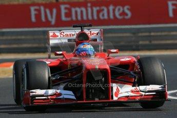 World © Octane Photographic Ltd. F1 Hungarian GP - Hungaroring. Friday 26th July 2013. F1 Practice 1. Scuderia Ferrari F138 - Fernando Alonso. Digital Ref : 0758lw1d0878