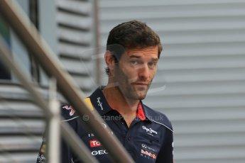 World © Octane Photographic Ltd. F1 Hungarian GP - Hungaroring. Thursday Paddock. 25th July 2013. Infiniti Red Bull Racing RB9 - Mark Webber. Digital Ref : 0756lw1d0334