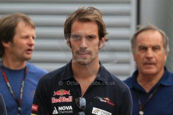 World © Octane Photographic Ltd. F1 Hungarian GP - Hungaroring. Thursday Paddock. 25th July 2013. Scuderia Toro Rosso STR8 - Jean-Eric Vergne. Digital Ref : 0756lw1d0343