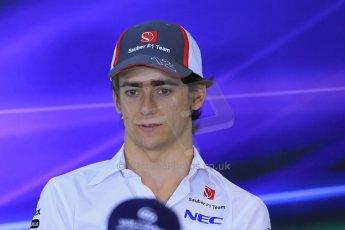 World © Octane Photographic Ltd. F1 Hungarian GP - Hungaroring. Thursday Press Conference. 25th July 2013. Sauber C32 - Esteban Gutierrez. Digital Ref : 0756lw1d0468