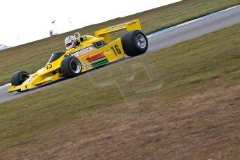 World © Octane Photographic Ltd. Masters Testing – Thursday 4th April 2013. FIA Masters Historic Formula One Championship. Bob Berridge. Ex-Emerson Fittipaldi F5A2. Digital ref : 0629ce1d0434