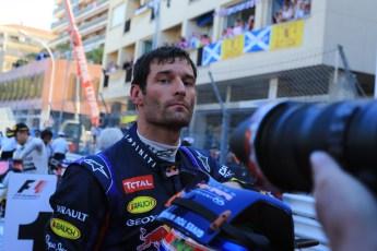 World © Octane Photographic Ltd. F1 Monaco GP, Monte Carlo - Sunday 26th May - Podium and celebrations. Infiniti Red Bull Racing - Mark Webber - 3rd. Digital Ref : 0712lw1d1952