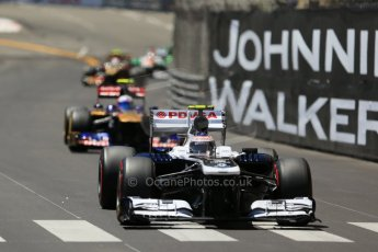 World © Octane Photographic Ltd. F1 Monaco GP, Monte Carlo - Sunday 26th May - Race. Williams FW35 - Valtteri Bottas leads Scuderia Toro Rosso STR 8 - Daniel Ricciardo. Digital Ref : 0711lw1d1038