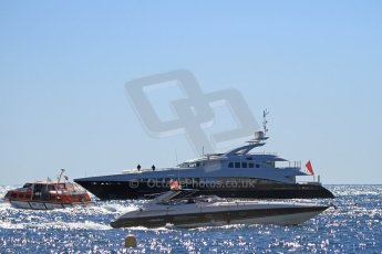 """World © Octane Photographic Ltd. The 36.8m yacht """"Hayken"""", previously confiscated from a convicted investment fraudster (Under the name of """"Seascape""""), heads into Monaco harbour under hew new owners. Digital Ref : 07137d3015"""