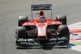 World © Octane Photographic Ltd. F1 Italian GP - Monza, Friday 6th September 2013 - Practice 2. Marussia F1 Team MR02 - Max Chilton. Digital Ref : 0813lw1d2573