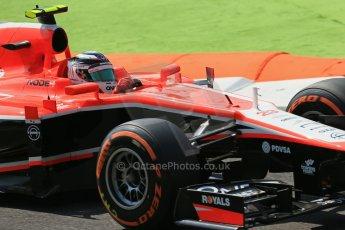 World © Octane Photographic Ltd. F1 Italian GP - Monza, Friday 6th September 2013 - Practice 2. Marussia F1 Team MR02 - Max Chilton. Digital Ref : 0813lw1d2605