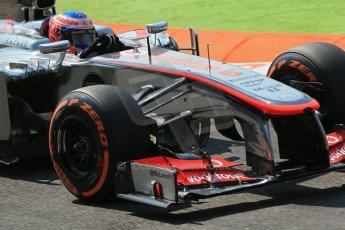 World © Octane Photographic Ltd. F1 Italian GP - Monza, Friday 6th September 2013 - Practice 2. Vodafone McLaren Mercedes MP4/28 - Jenson Button. Digital Ref : 0813lw1d2650