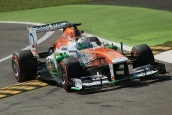 World © Octane Photographic Ltd. F1 Italian GP - Monza, Friday 6th September 2013 - Practice 2. Sahara Force India VJM06 - Paul di Resta. Digital Ref : 0813lw1d2742