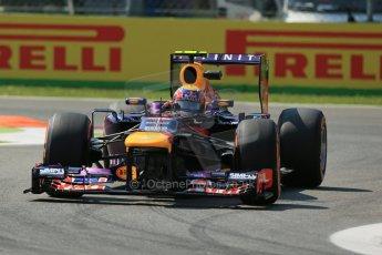 World © Octane Photographic Ltd. F1 Italian GP - Monza, Friday 6th September 2013 - Practice 2. Infiniti Red Bull Racing RB9 - Mark Webber. Digital Ref : 0813lw1d2807