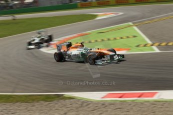 World © Octane Photographic Ltd. F1 Italian GP - Monza, Friday 6th September 2013 - Practice 2. Sahara Force India VJM06 - Paul di Resta. Digital Ref : 0813lw1d42427