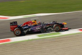 World © Octane Photographic Ltd. F1 Italian GP - Monza, Friday 6th September 2013 - Practice 2. Infiniti Red Bull Racing RB9 - Sebastian Vettel. Digital Ref : 0813lw1d42507