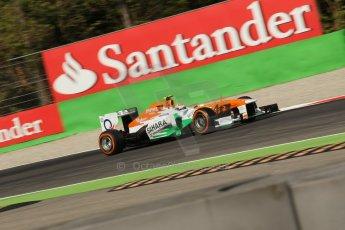 World © Octane Photographic Ltd. F1 Italian GP - Monza, Saturday 7th September 2013 - Practice 3. Sahara Force India VJM06 - Adrian Sutil. Digital Ref :