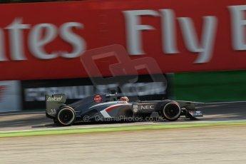 World © Octane Photographic Ltd. F1 Italian GP - Monza, Saturday 7th September 2013 - Practice 3. Sauber C32 - Nico Hulkenberg. Digital Ref :