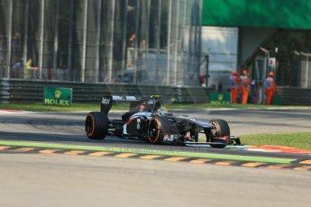 World © Octane Photographic Ltd. F1 Italian GP - Monza, Saturday 7th September 2013 - Practice 3. Sauber C32 - Esteban Gutierrez. Digital Ref :