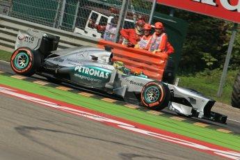 World © Octane Photographic Ltd. F1 Italian GP - Monza, Saturday 7th September 2013 - Practice 3. Mercedes AMG Petronas F1 W04 - Nico Rosberg. Digital Ref :