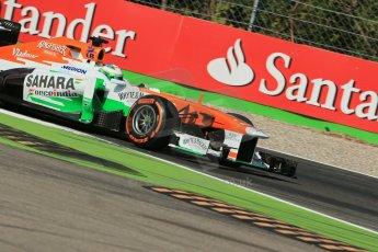 World © Octane Photographic Ltd. F1 Italian GP - Monza, Saturday 7th September 2013 - Practice 3. Sahara Force India VJM06 - Paul di Resta. Digital Ref :
