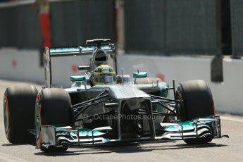 World © Octane Photographic Ltd. F1 Italian GP - Monza, Saturday 7th September 2013 - Qualifying. Mercedes AMG Petronas F1 W04 - Nico Rosberg. Digital Ref :