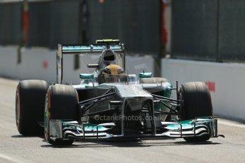 World © Octane Photographic Ltd. F1 Italian GP - Monza, Saturday 7th September 2013 - Qualifying. Mercedes AMG Petronas F1 W04 – Lewis Hamilton. Digital Ref :