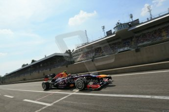 World © Octane Photographic Ltd. F1 Italian GP - Monza, Saturday 7th September 2013 - Qualifying. Infiniti Red Bull Racing RB9 - Mark Webber. Digital Ref :