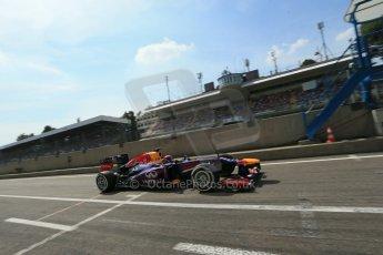 World © Octane Photographic Ltd. F1 Italian GP - Monza, Saturday 7th September 2013 - Qualifying. Infiniti Red Bull Racing RB9 - Sebastian Vettel. Digital Ref :