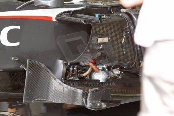 World © Octane Photographic Ltd. F1 Italian GP - Monza, Saturday 7th September 2013 - Qualifying. Sauber C32 sidepod wiring and turning vanes. Digital Ref :