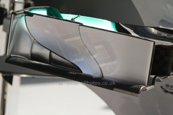 World © Octane Photographic Ltd. F1 Italian GP - Monza, Saturday 7th September 2013 - Qualifying. Mercedes AMG Petronas F1 W04 front wing endplate. Digital Ref :