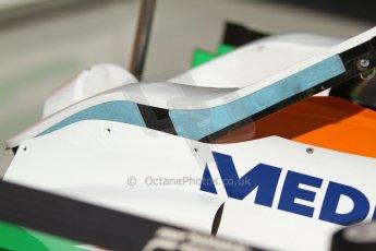 World © Octane Photographic Ltd. F1 Italian GP - Monza, Saturday 7th September 2013 - Qualifying. Sahara Force India VJM06 headrest with blue compound filling. Digital Ref :