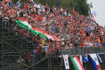 World © Octane Photographic Ltd. F1 Italian GP - Monza, Sunday 8th September 2013 - Race - The fans pack the Monza grandstands. Digital Ref : 0824lw1d6051