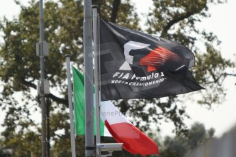 World © Octane Photographic Ltd. F1 Italian GP - Monza, Friday 6th September 2013 - Practice 1 - F1 and Italian Flags. Digital Ref : 0811cb7d5282